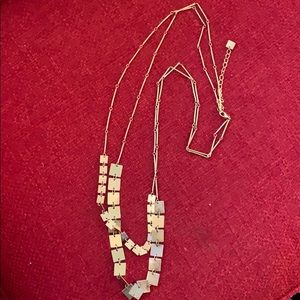 Silver double stranded necklace